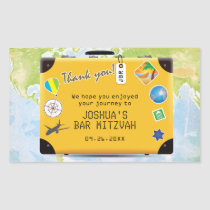 Suitcase World Travel Bar Bat Mitzvah Postage