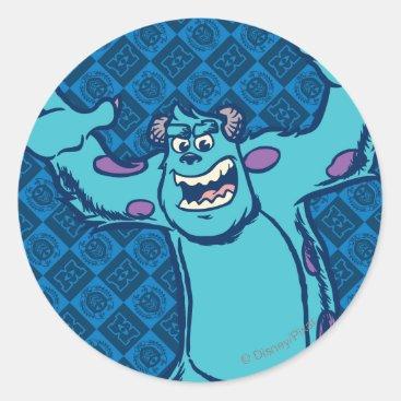 Sulley 4 classic round sticker