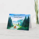 Summer Camp Card for Boy, or Girl with Cat