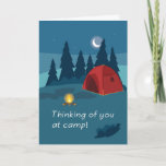 Summer Camp Thinking of You Tent and Fire Card