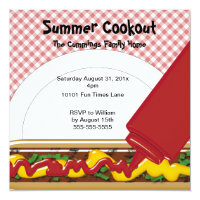 picnic bbq cookout summer party invitations gifts