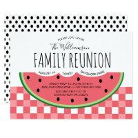 Summer Family Reunion Watermelon Picnic Invitation