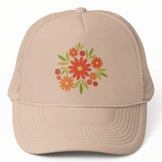 Summer flowers mesh hats