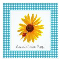 Summer Garden Party Sunflower Picnic Card