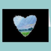 Summer Heart Romance Valentine Love Card