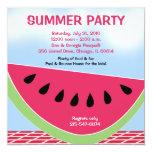 Summer Party Picnic Watermelon 5x5 custom Invitation