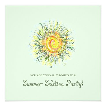 Summer Solstice Festival / Party Invites