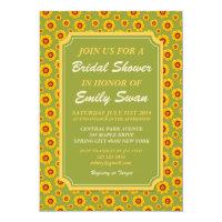 Summer Sunflower Bridal Shower Invitation Card