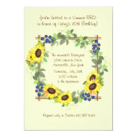 Summer Sunflowers Invitation