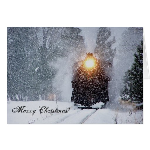 Sumpter Valley Train Christmas Card Zazzle
