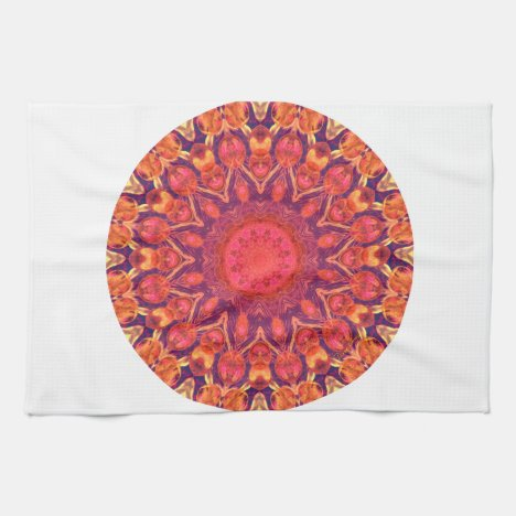Sunburst Mandala - Abstract Circle Dance Hand Towel