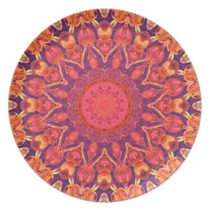 Sunburst Mandala - Abstract Circle Dance Party Plates