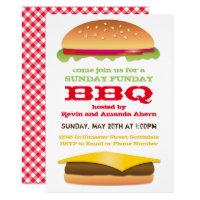 Sunday Funday BBQ Cheeseburger Card