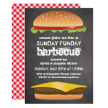 Sunday Funday Chalkboard Barbecue Party Invitation