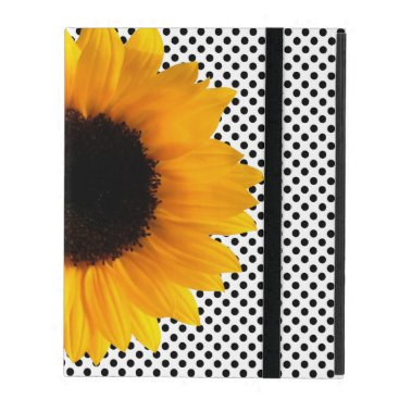 Sunflower and Polka Dots iPad Case