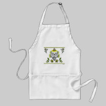 Sunflower Folk Pattern by Alexandra Cook aprons
