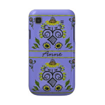 Sunflower Folk Pattern by Alexandra Cook casemate cases