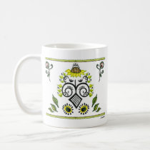 Sunflower Folk Pattern by Alexandra Cook mugs