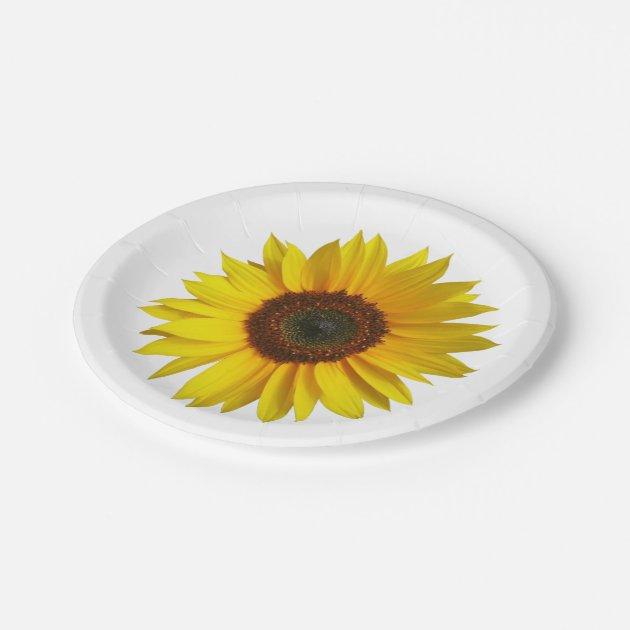 Sunflower Paper Plates Zazzle