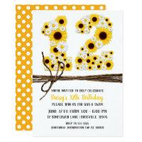 Sunflowers & Daisies TWELVE 12 12TH Birthday Party Card