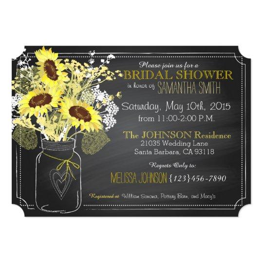 Zazzle Sunflower Bridal Shower Invitations