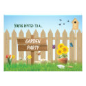 Sunny Day Garden Party Personalized Invitations