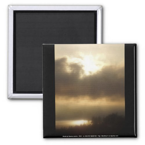 Sunrise over the Columbia River #1 magnet