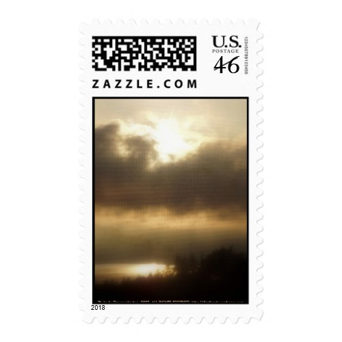 Sunrise over the Columbia River #1 stamp