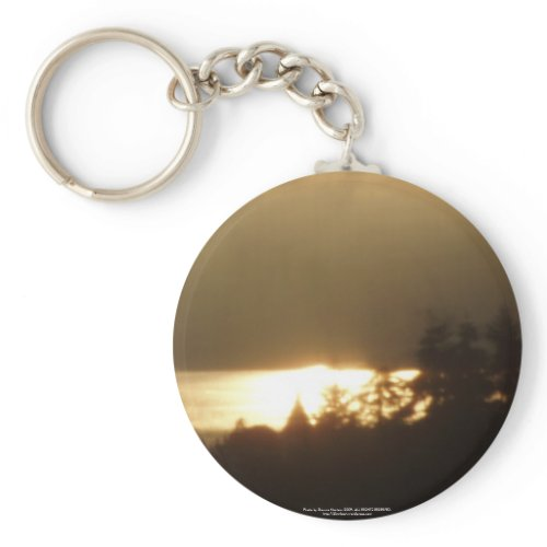 Sunrise Over the Columbia River #4 keychain