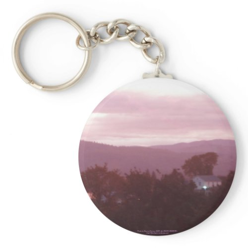 Sunrise Over the Columbia River #9 keychain