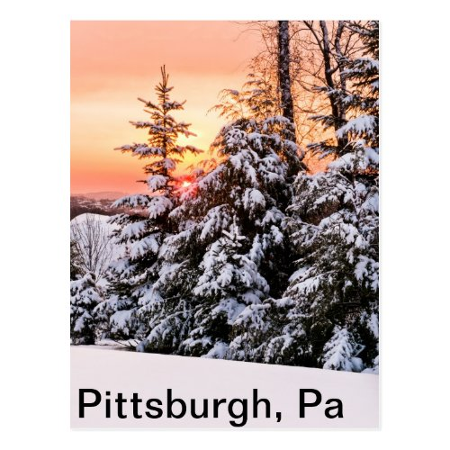 Sunrise, Pittsburgh, Pa Postcard