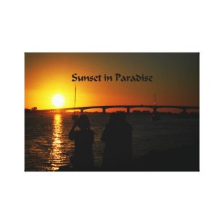 Sunset in Paradise Gallery Wrap Canvas