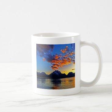 Sunset over the Tetons Coffee Mug