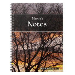 Sunset Tree Notebook
