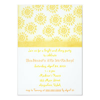 Sunshine Birthday Invitation