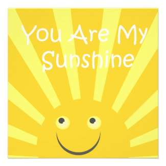 You Are My Sunshine Party Invitation