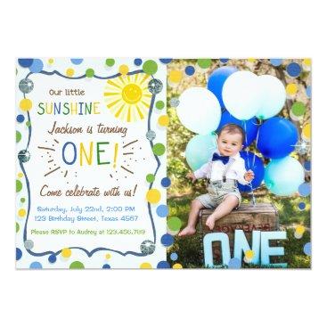 Sunshine First Birthday Party Invitation