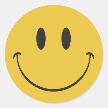 Super big smile happy face Emoji Classic Round Sticker