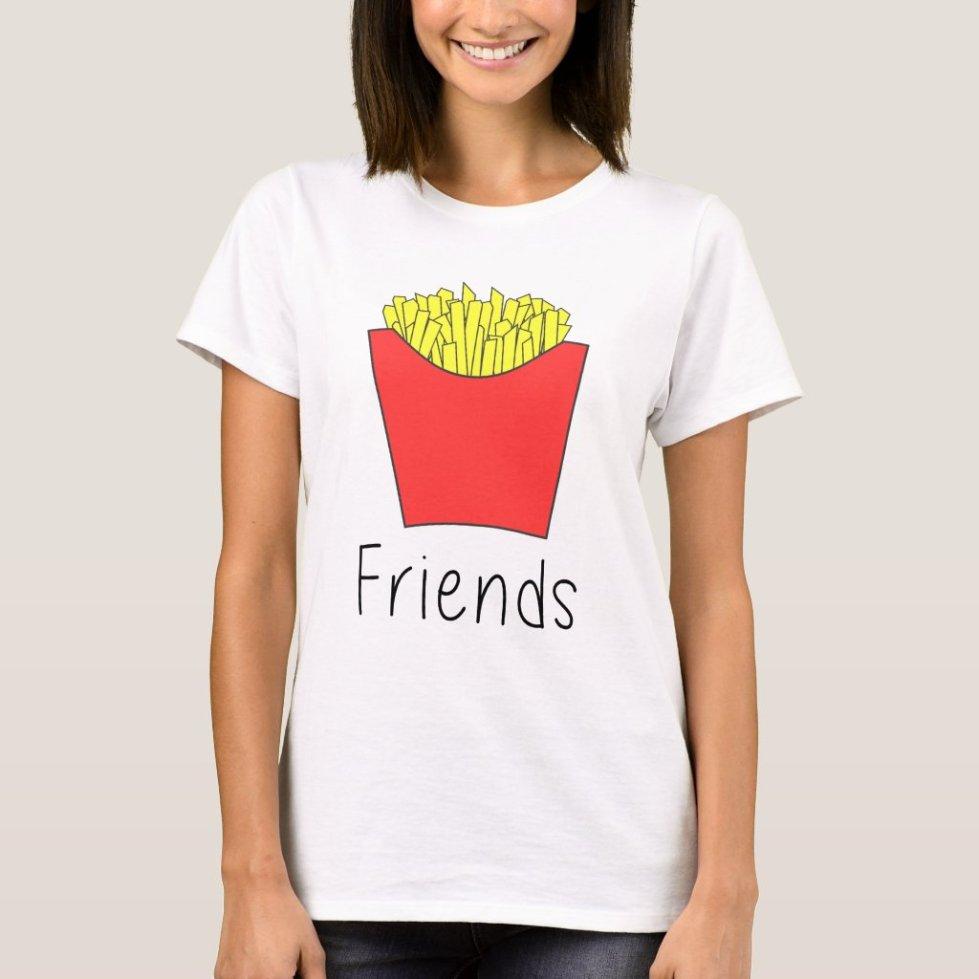 Matching Best Friends Burger and Fries T-Shirt