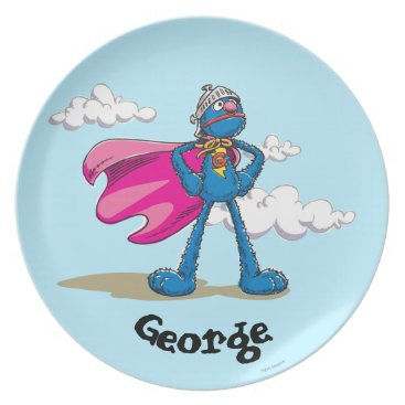 Super Grover   Add Your Name Dinner Plate