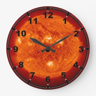 Super Prominence - Sun in Space Round Wallclocks
