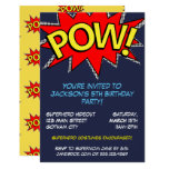 Superhero Birthday Party Blue and Yellow Template