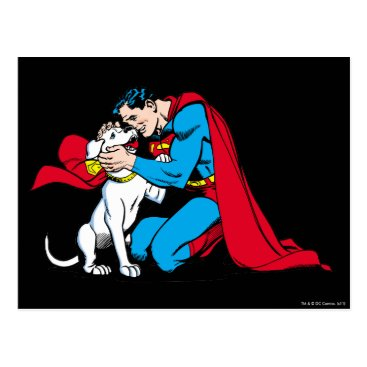 Superman and Krypto Postcard