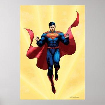 Superman Flying Poster