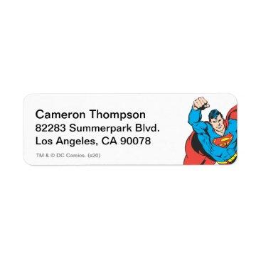 Superman Left Fist Raised Label