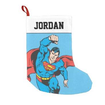 Superman Left Fist Raised Small Christmas Stocking