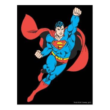 Superman Right Fist Raised Postcard