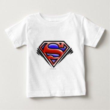 Superman S-Shield   Red Airbrush Logo Baby T-Shirt