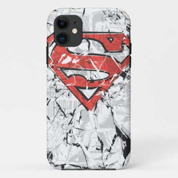 Superman Stylized | Crumpled Comic Logo iPhone 11 Case