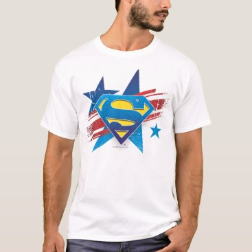 Superman Stylized | Stars and Stripes Logo T-Shirt